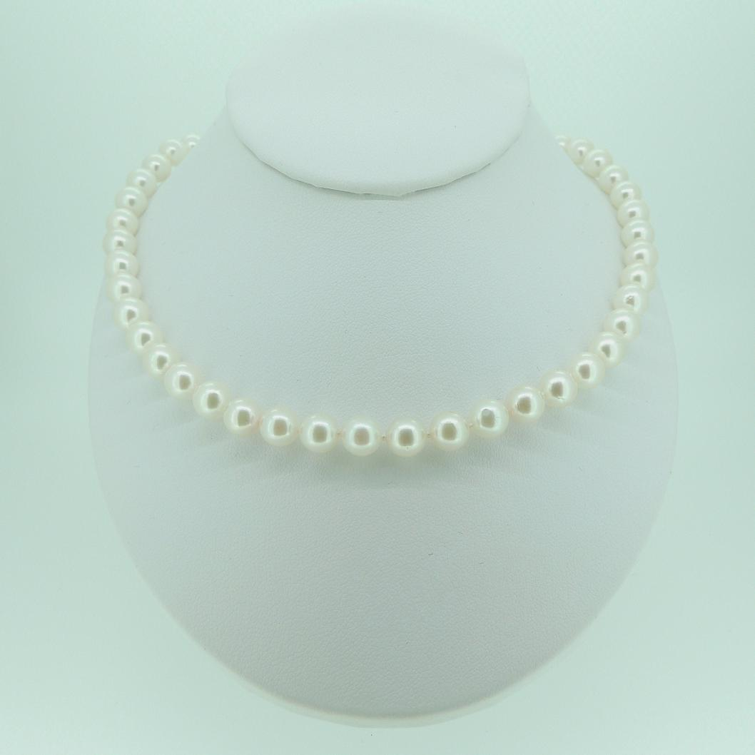 6mm White Round Pearl Set - MHPearlJewellery.co.uk 1e65c71e2