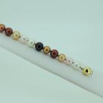 8mm Brown Round Pearl Bracelet
