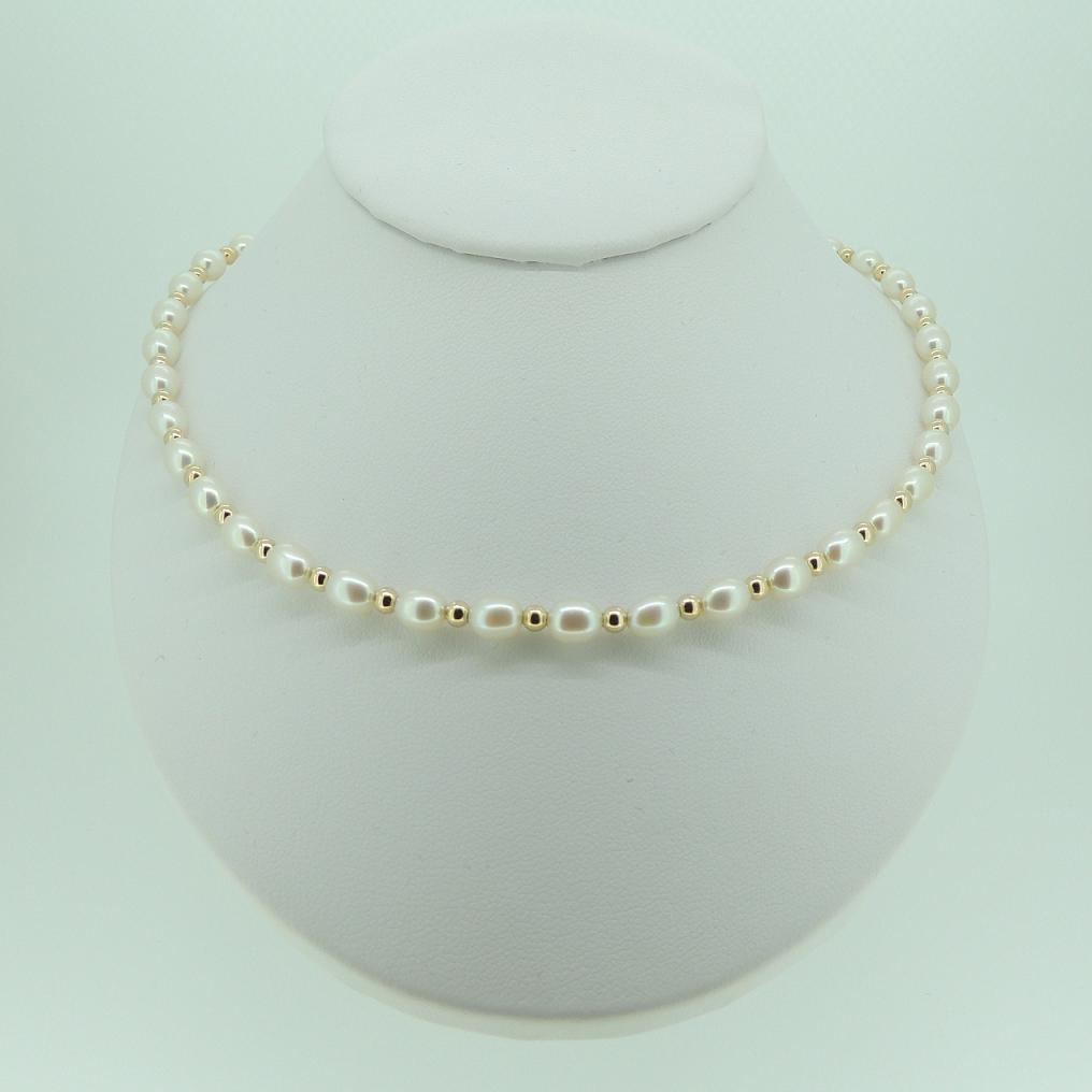 how to make rice pearl necklace