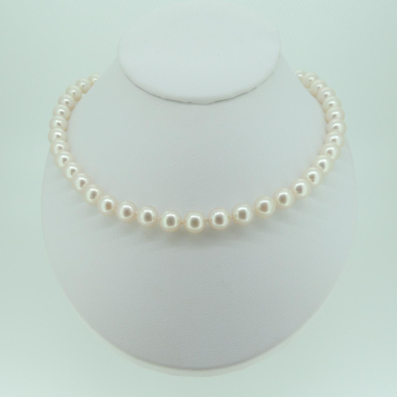 necklace strand white complimentary row inch akoya am aa mm pearl two shipping double products