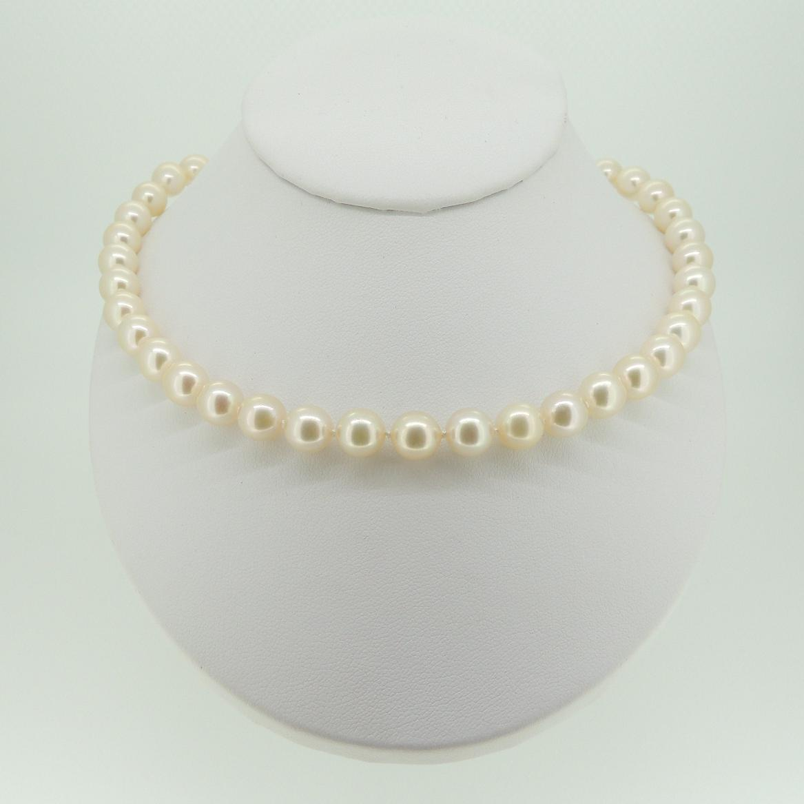 product gold necklace white strand akoya floral pearl w wfloral clasp